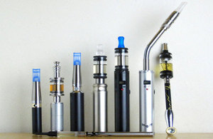 7 different types of ecigarettes in a row