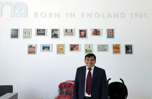 The British Ambassador Sanjay Wadvani has visited the first ever Mothercare store in Ashgabat