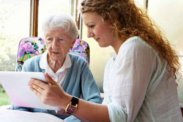 Patients looking at their records online