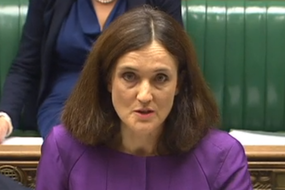 Theresa Villiers delivering Oral Statement in Parliment