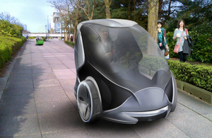Driverless pod (Image courtesy of BIS)