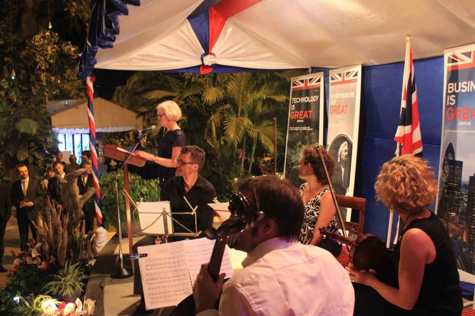 British High Commissioner at Queen's Birthday celebration