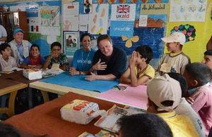 زيارة رئيس الوزراء البريطاني للأردن