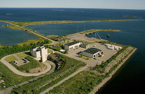an aerial view of Sweden's Forsmark site