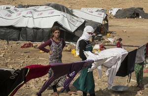 Yezidis trapped on Mount Sinjar, August 2014