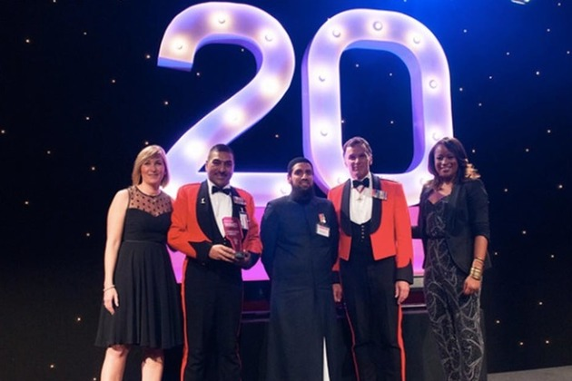 Armed Forces Muslim Association collect their Race for Opportunity award