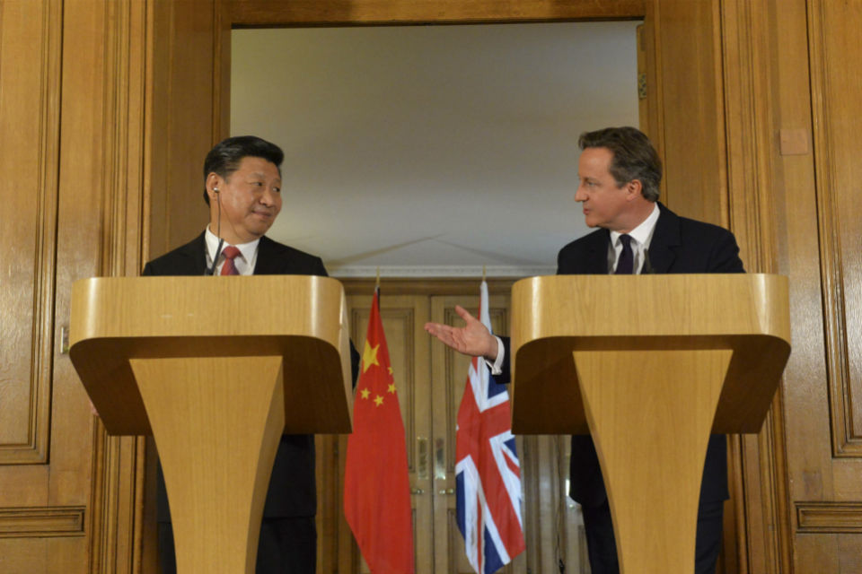 Joint press conference: David Cameron and President Xi Jinping