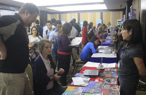 Students visiting the Universities Fair