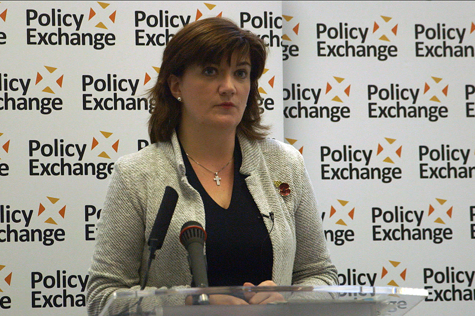 Nicky Morgan at Policy Exchange