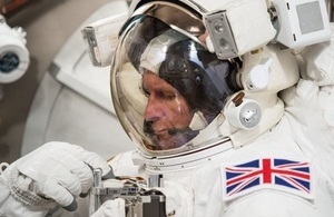 Tim Peake training
