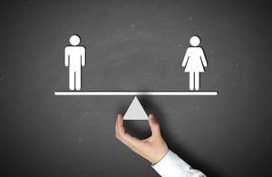Gender pay gap illustration