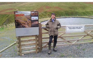 Minister opening Force Crag mine water treatment scheme