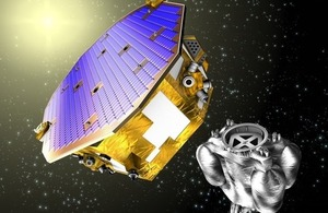Artist's impression of LISA Pathfinder.