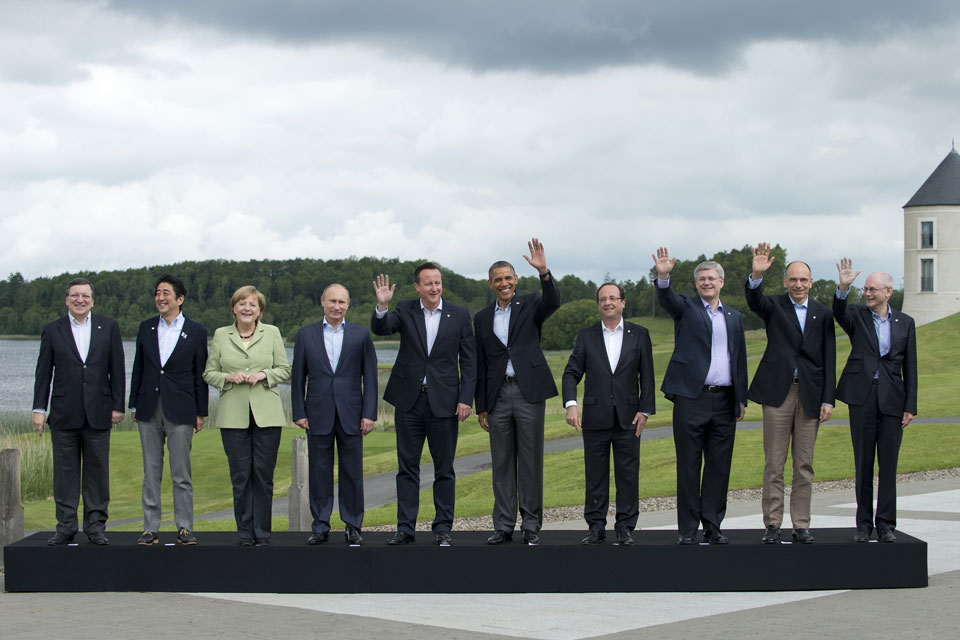#G8 leaders at the Summit in Northern Ireland