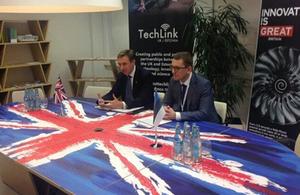 UK-Estonia TechLink launch, Lord Bridges and Kristen Michal