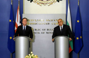 Cameron in Bulgaria