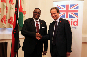 President Peter Mutharika and Nick Hurd