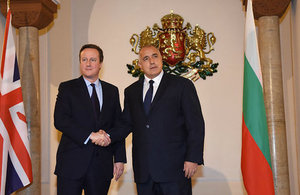 Prime Minister David Cameron and Prime Minister Boyko Borissov meet in Sofia on 3 December 2015.