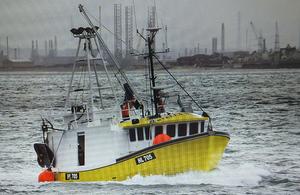 Fishing vessel Stella Maris, photograph courtesy of Jon Irwin