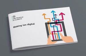 Cover of the 'Making tax digital' publication