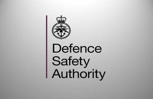 Defence Safety Authority logo.MOD.Crown Copyright.