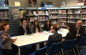 Nicky Morgan meeting teachers