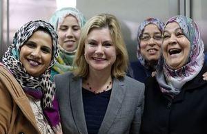 UK Secretary of State for International Development visits Jordan