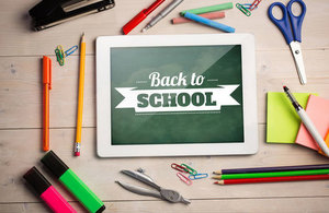image with back to school on a chalkboard