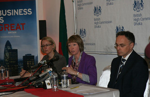 Alison Blake's first Press Conference in Bangladesh