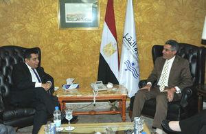 اللورد أحمد ووزير النقل المصري