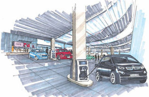 Drawing of charge point.