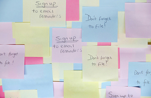 Sticky notes reminders