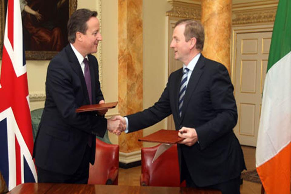 David Cameron meets Enda Kenny