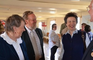 The Princess Royal in the Falkland Islands