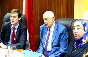 "Ambassador John Casson visits ""My Right"" Centre in Cairo"