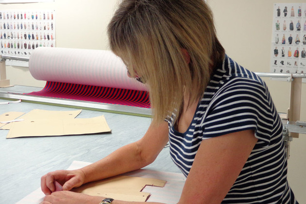 Woman dressmaking