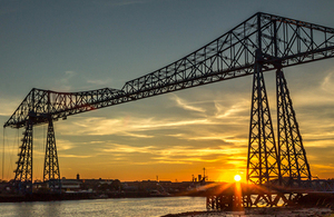 Transporter Bridge Middlesbrough Tees Valley