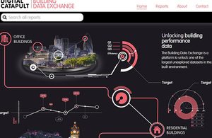 home page screenshot of the Digital Catapult's Buildings Data Exchange