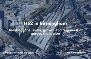 HS2 in Birmingham.