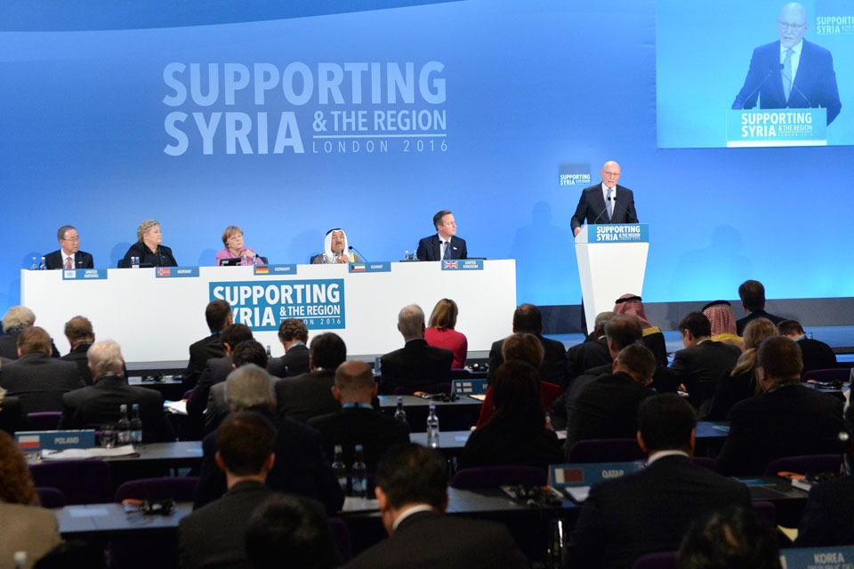 PM at the plenary session of Supporting Syria conference