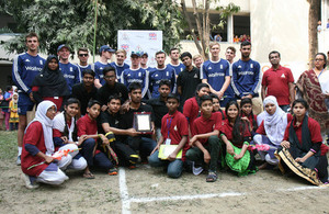 England U19 cricketers visit school for underprivileged children in Bangladesh