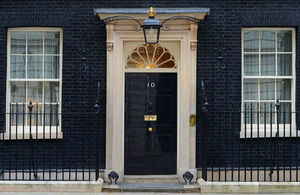Number 10 Downing Street door