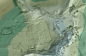 Vindolanda Roman fort imaged using EA LIDAR data