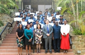 FAAN delegation at a Certificate presentation ceremony by the High Commissioner, Paul Arkwright.