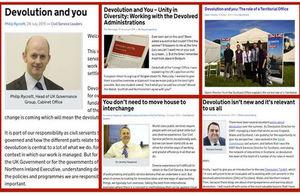 Composition image of 6 devolution blog posts