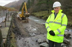 Construction work on the A591