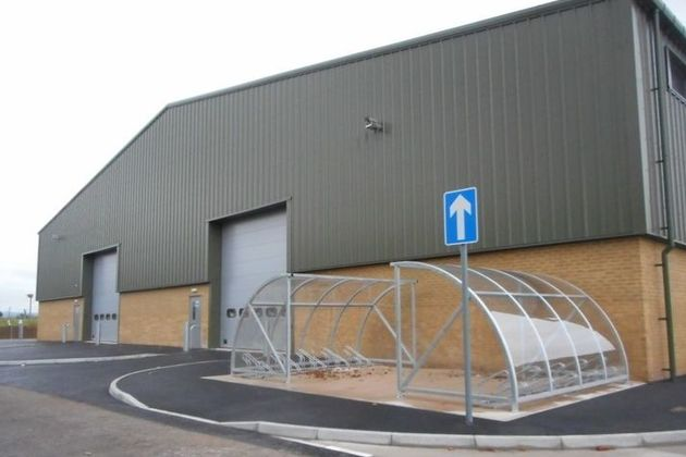 Exterior of the new Command Troop Covered Parking building. Photo: via MOD. Crown Copyright.