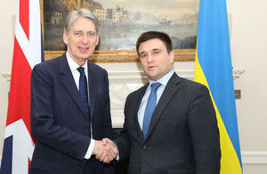 Foreign Secretary with Foreign Minister Pavlo Klimkin