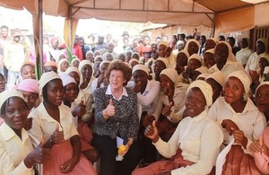 With girls from DFID funded ENGINE project in Kaduna