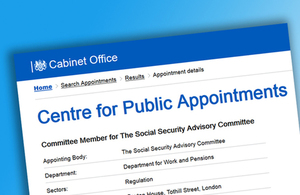 Become a member of the Social Security Advisory Committee